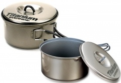 Non Stick Ti Pans 900ml and 1300ml (ECA-412)