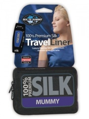Premium Silk Sleeping Bag Liner (Mummy)