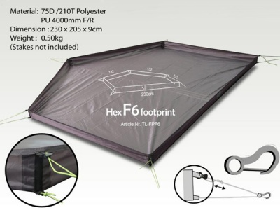 Hex Peak F6 Footprint