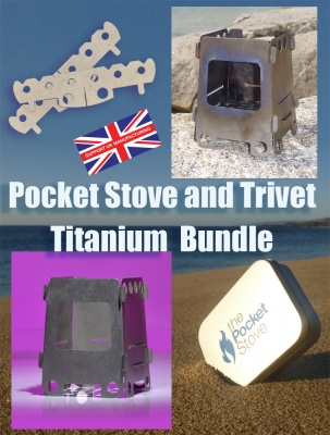 Pocket Stove and Trivet Ti Bundle