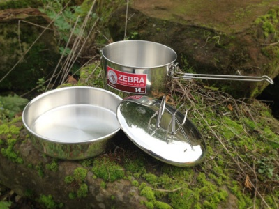 Zebra Camping / Lunch Pot 14cm