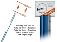 Adjustable Tarp Pole 163X