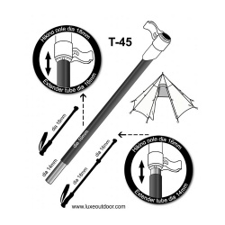 Luxe T45 - 16mm Walking Pole Extender